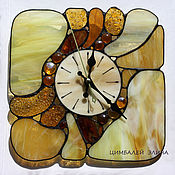 """Для дома и интерьера ручной работы. Ярмарка Мастеров - ручная работа Витражные часы """"Морские камушки....""""3. Handmade."""