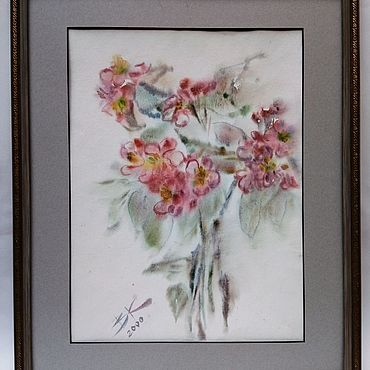 """Картины и панно ручной работы. Ярмарка Мастеров - ручная работа """"Картина Цветущая яблоня"""". Handmade."""