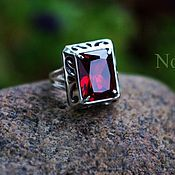 Украшения handmade. Livemaster - original item Ring with garnet. Handmade.