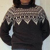 """Одежда ручной работы. Ярмарка Мастеров - ручная работа Свитер """"Исландский,серый». Handmade."""