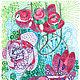 """Абстракция ручной работы. Ярмарка Мастеров - ручная работа. Купить """"После дождя"""". Handmade. Цветы, картина в подарок, картина для интерьера"""