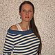 """Кофты и свитера ручной работы. Ярмарка Мастеров - ручная работа. Купить Кофта полосатая вязаная женская  """"МОРЯЧКА"""". Handmade. Белый"""