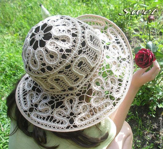 """Шляпы ручной работы. Ярмарка Мастеров - ручная работа. Купить Шляпка """"Сударыня"""". Handmade. Бежевый, шляпка, шляпа летняя"""