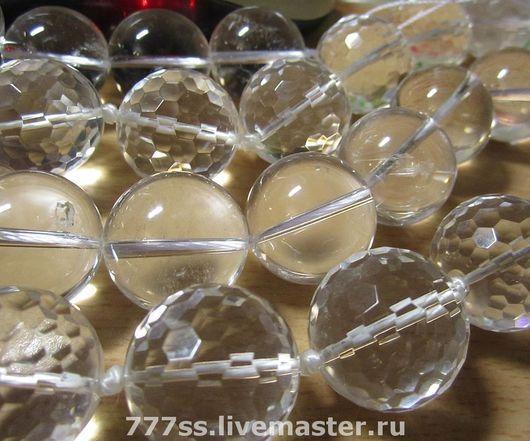 Для украшений ручной работы. Ярмарка Мастеров - ручная работа. Купить Очень крупные бусины (горный хрусталь гладкий). Handmade.