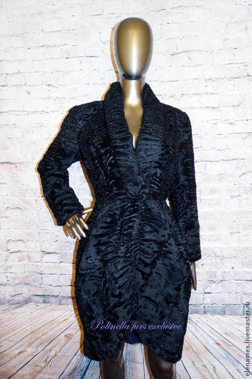 Верхняя одежда ручной работы. Ярмарка Мастеров - ручная работа. Купить Пальто из каракуля swakara. Handmade. Черный, магазин, каракульча