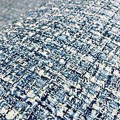 Материалы для творчества ручной работы. Ярмарка Мастеров - ручная работа Нежно-голубая ткань в стиле Шанель. Handmade.