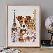 Картины и панно handmade. Livemaster - original item Jack Russell Terrier. Poster. Handmade.