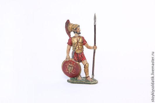 Миниатюра ручной работы. Ярмарка Мастеров - ручная работа. Купить Спартанский гоплит, 5 век до н.э.. Handmade. Комбинированный