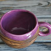 Посуда ручной работы. Ярмарка Мастеров - ручная работа Фиолетовая чашка. Handmade.