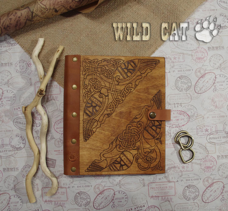 Деревянный блокнот с кожаным корешком, Блокноты, Липецк,  Фото №1
