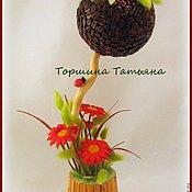 Цветы и флористика ручной работы. Ярмарка Мастеров - ручная работа Топиарий Лето с кофе. Handmade.