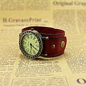 """Украшения ручной работы. Ярмарка Мастеров - ручная работа Часы наручные в стиле винтаж """"RED"""". Handmade."""