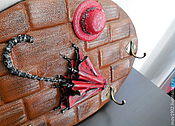 Для дома и интерьера ручной работы. Ярмарка Мастеров - ручная работа Ключница настенная (натуральная кожа). Handmade.
