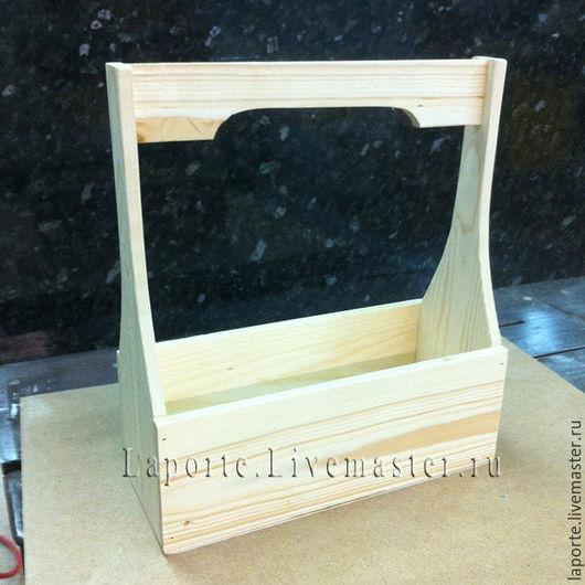 Подарочная упаковка ручной работы. Ярмарка Мастеров - ручная работа. Купить Ящик для цветов #4 деревянный, заготовка. Handmade.
