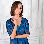 """Одежда ручной работы. Ярмарка Мастеров - ручная работа Валяное платье-туника """" Royal Blue"""". Handmade."""