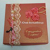 """Сувениры и подарки ручной работы. Ярмарка Мастеров - ручная работа Подарочная упаковка """"Коралловые розы"""". Handmade."""
