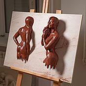 Картины и панно ручной работы. Ярмарка Мастеров - ручная работа Женщина шоколадка. Handmade.