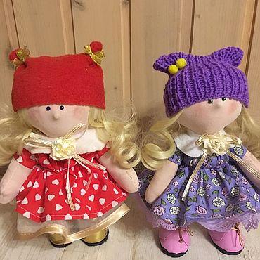 Куклы и игрушки ручной работы. Ярмарка Мастеров - ручная работа Куклы: Алинка и Малинка. Handmade.