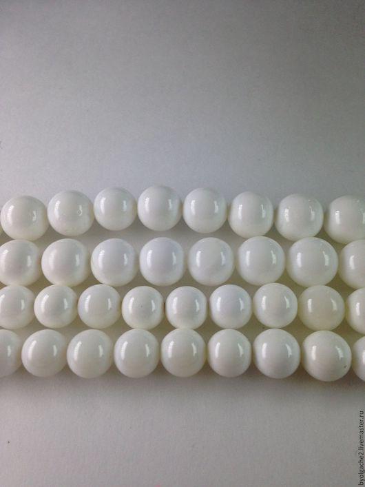 Для украшений ручной работы. Ярмарка Мастеров - ручная работа. Купить Агат белый бусины 8 и 10мм. Handmade. Белый