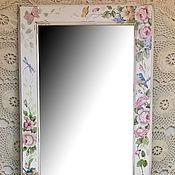 """Зеркала ручной работы. Ярмарка Мастеров - ручная работа Большое напольное зеркало """"Розы"""". Handmade."""
