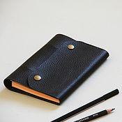 Канцелярские товары handmade. Livemaster - original item Black notebook. Handmade.