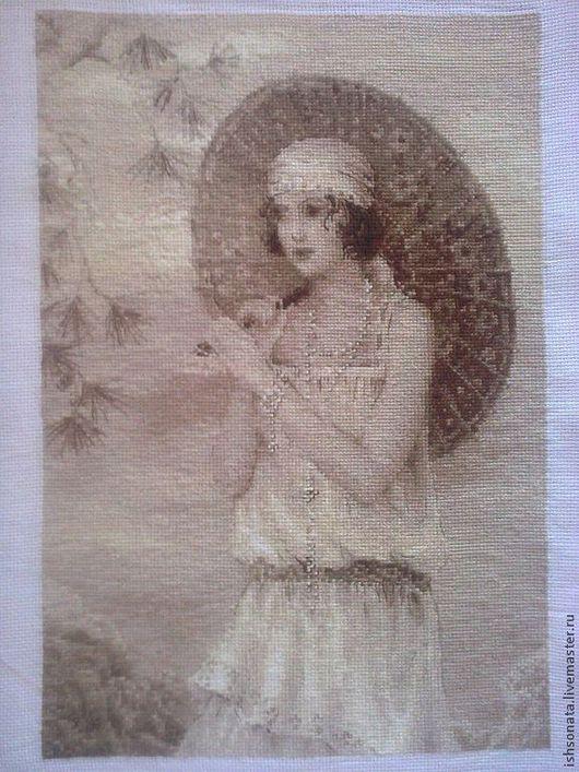 """Люди, ручной работы. Ярмарка Мастеров - ручная работа. Купить Вышивка крестом """"Старая фотография.Ривьера"""". Handmade. Вышивка"""