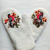 Аксессуары handmade. Livemaster - original item Mittens: bullfinches. Handmade.