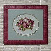 Картины и панно handmade. Livemaster - original item Cross stitch Vintage Roses. Handmade.