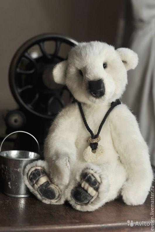 Мишки Тедди ручной работы. Ярмарка Мастеров - ручная работа. Купить Белый Мишка Диксон. Handmade. Белый, белый медведь