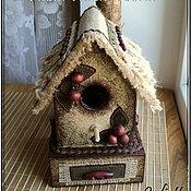 Для дома и интерьера ручной работы. Ярмарка Мастеров - ручная работа Декоративный скворечник-шкатулка. Handmade.