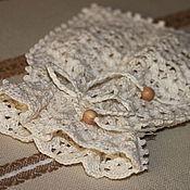 Русский стиль ручной работы. Ярмарка Мастеров - ручная работа Вязаный мешочек из хлопка или льна. Handmade.