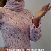 """Одежда ручной работы. Ярмарка Мастеров - ручная работа Свитер женский """"Косы"""". Handmade."""