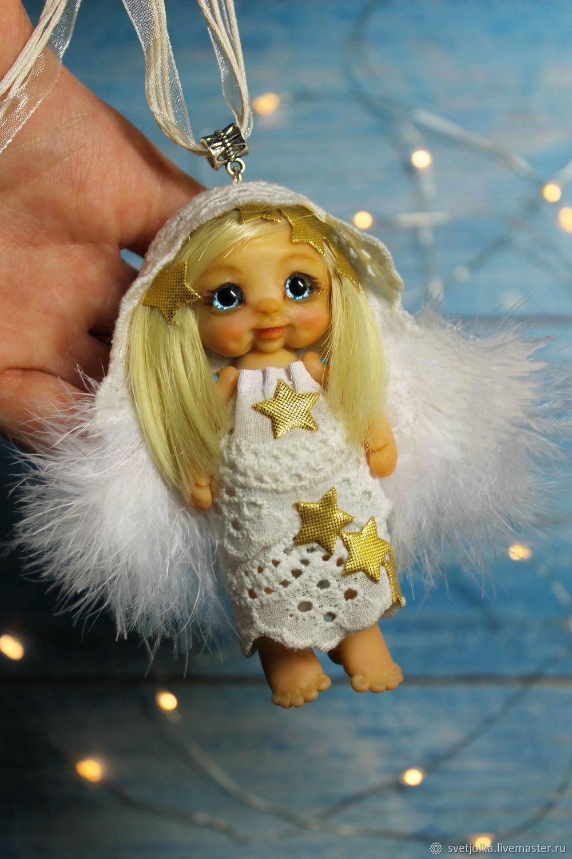 куколка Ангел хранитель, Подвеска, Белая Калитва,  Фото №1