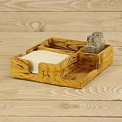 Салфетницы ручной работы. Ярмарка Мастеров - ручная работа Салфетница+приборница (органайзер для ресторана). Handmade.