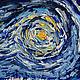 """Юмор ручной работы. Картина """"Кот Ван Гога"""". Наталья (ArtbyNK). Интернет-магазин Ярмарка Мастеров. Масляная живопись, юмор"""