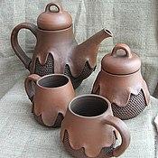"""Посуда ручной работы. Ярмарка Мастеров - ручная работа чайный набор """"Горячий шоколад"""". Handmade."""