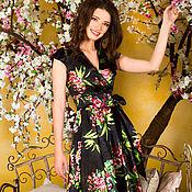 Одежда ручной работы. Ярмарка Мастеров - ручная работа Платье из натурального шелка Сирена(midi). Handmade.