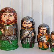 Русский стиль handmade. Livemaster - original item Matryoshka Russian heroes - 3. Handmade.