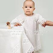 Работы для детей, handmade. Livemaster - original item Baptismal set of