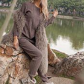 Одежда ручной работы. Ярмарка Мастеров - ручная работа Кашемировый костюм на молнии Кофейный. Handmade.