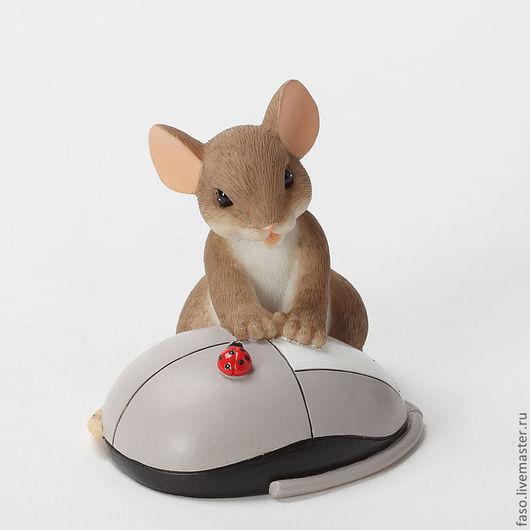 """Материалы для косметики ручной работы. Ярмарка Мастеров - ручная работа. Купить Силиконовая форма """"Мышь с мышкой"""". Handmade. Розовый"""
