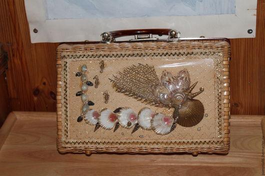 """Винтажные сумки и кошельки. Ярмарка Мастеров - ручная работа. Купить плетёная сумка PRINCESS CHARMING от компании """"ATLAS"""". Handmade. Соломка"""