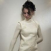 """Одежда ручной работы. Ярмарка Мастеров - ручная работа Войлочное платье ручной работы """"Метелица"""". Handmade."""
