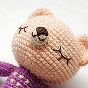 Куклы и игрушки ручной работы. Ярмарка Мастеров - ручная работа Спящий мишка в свитерке. Handmade.