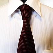 Аксессуары handmade. Livemaster - original item Tie silk polka dot. Handmade.