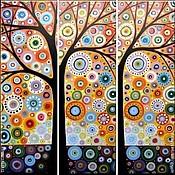 """Картины и панно handmade. Livemaster - original item Триптих """" Диво-дерево"""". Handmade."""