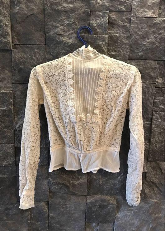 Одежда. Ярмарка Мастеров - ручная работа. Купить Старинная кружевная блузка конец 1800г.. Handmade. Винтаж, антикварная блузка, кружево