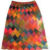 Skirts handmade. Livemaster - original item Knitted long skirt Tropical fish plus size. Handmade.