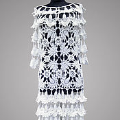 Одежда handmade. Livemaster - original item Crochet dress Parisian. White handmade lace wedding or evening dress. Handmade.