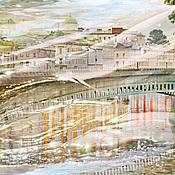 Картины и панно handmade. Livemaster - original item Photo painting city Abstract landscape poster
